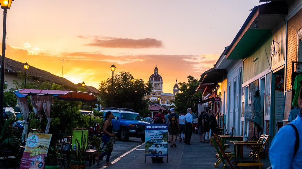 Granada, Nicaragua: view of Calle Calzada