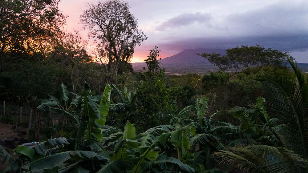 Isla Ometepe sunset from Zopilote