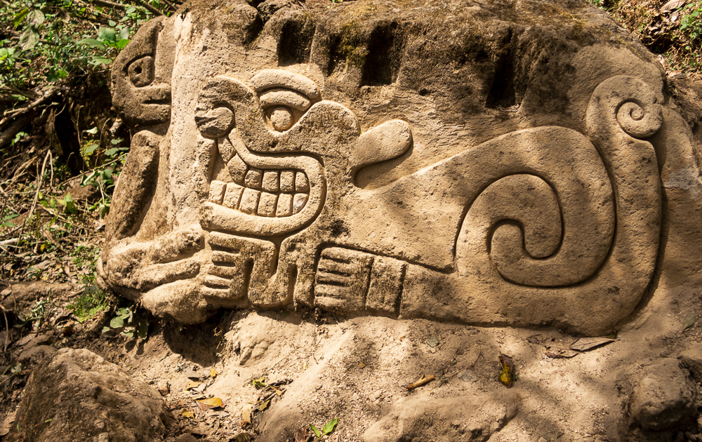 Petroglyphs at Hike to Laguna de Apoyo, Nicargua