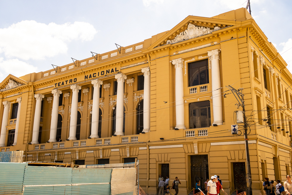 National Theater in San Salvador's historic center