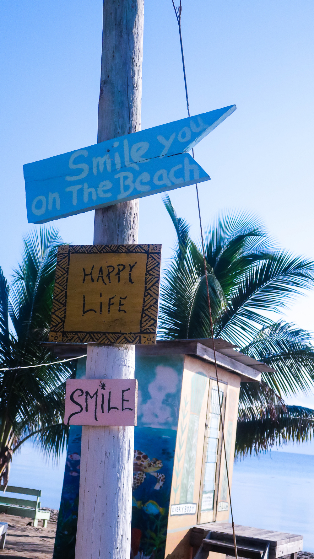 Hopkins, Belize: Colorful signs