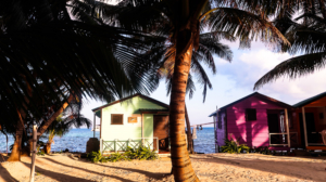 Tobacco Caye, Belize: colorful houses