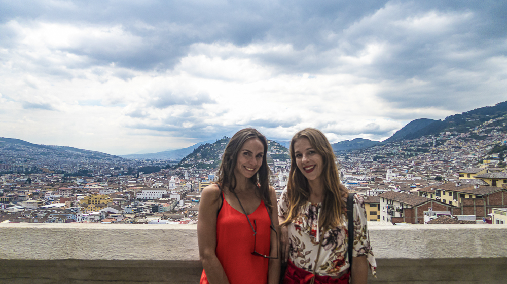 Quito's historic center: view from Basilica