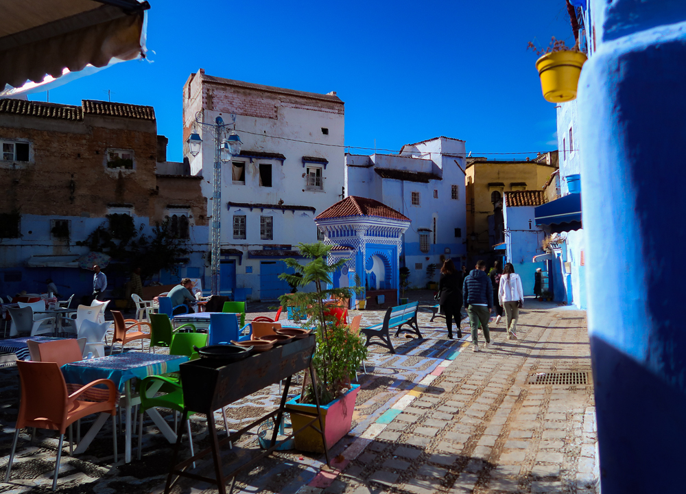 Chefchaouen, Morocco: Quiet plaza