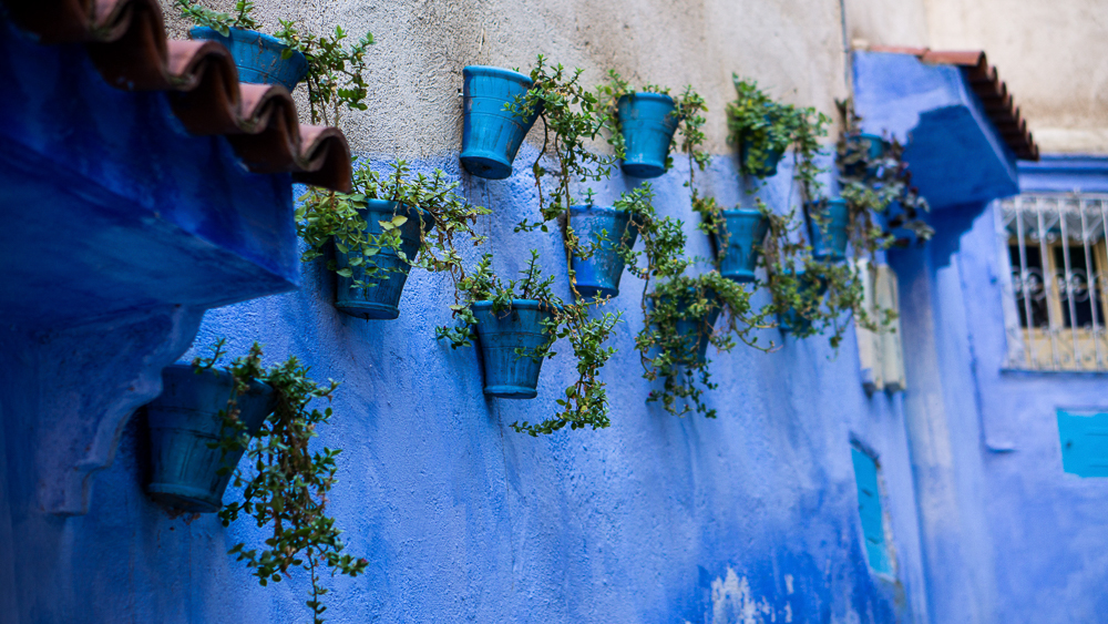 Streets Chefchaouen, Morocco
