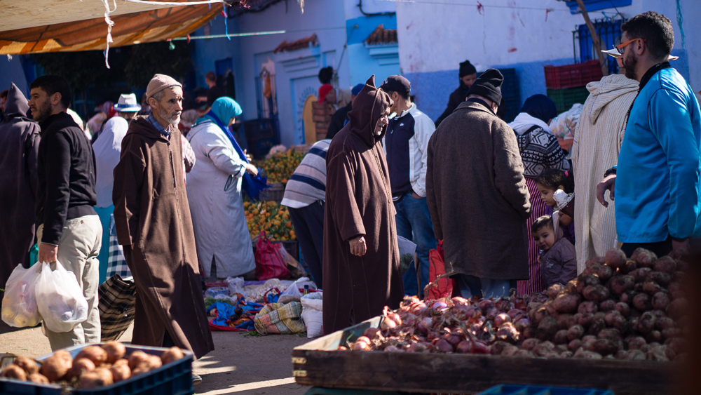 Market Chefchaouen, Morocco
