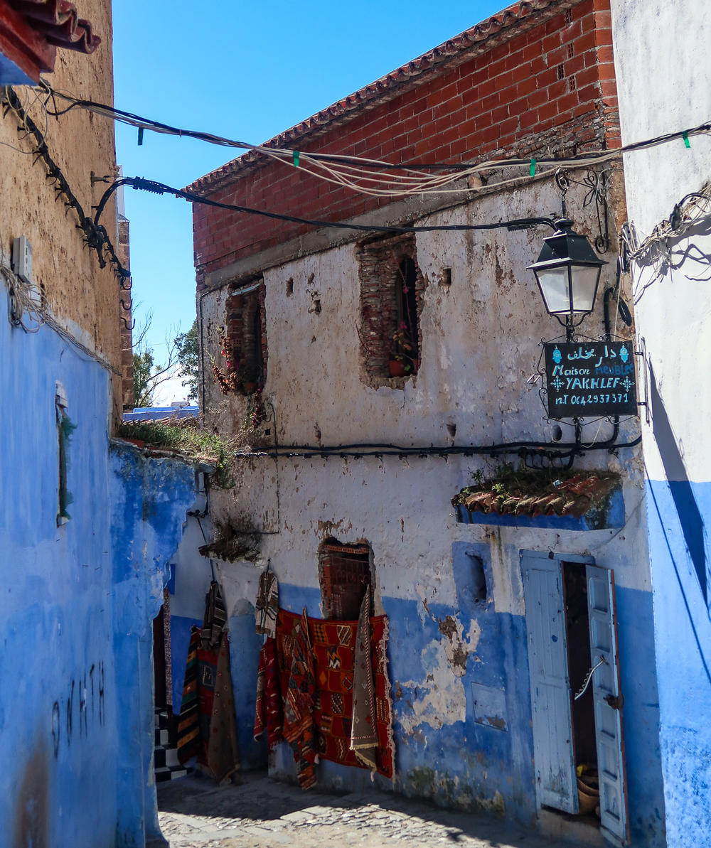 Streets in Chefchaouen, Morocco