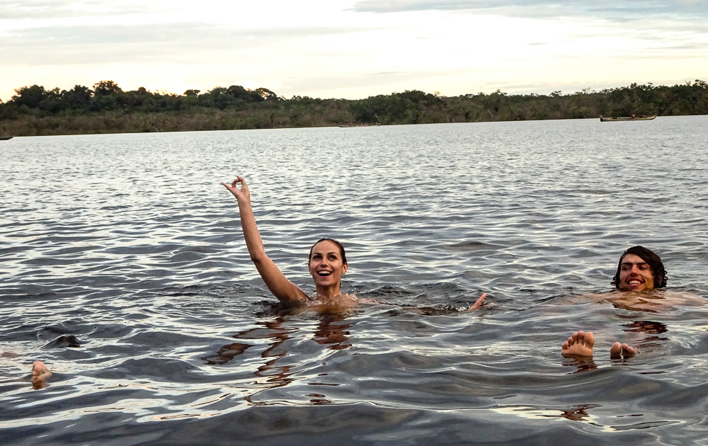 Tena, Ecuador's amazon adventure: swimming in river