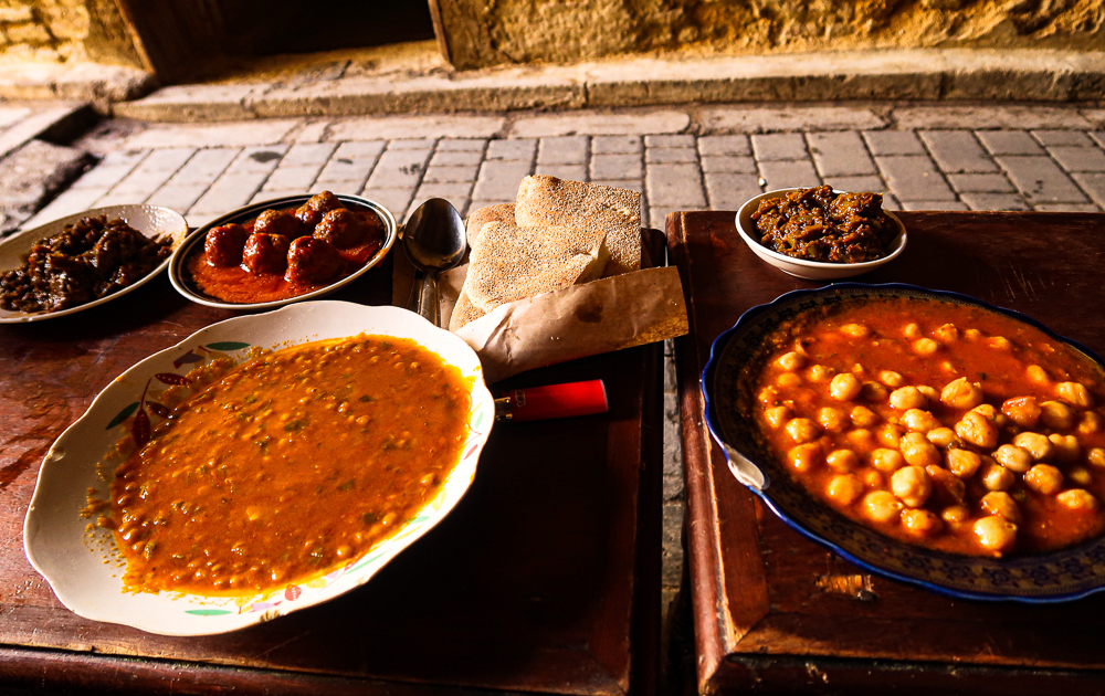 Street food in Fez, Morocco