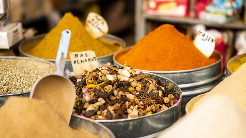 Fez, Morocco: Spices on display