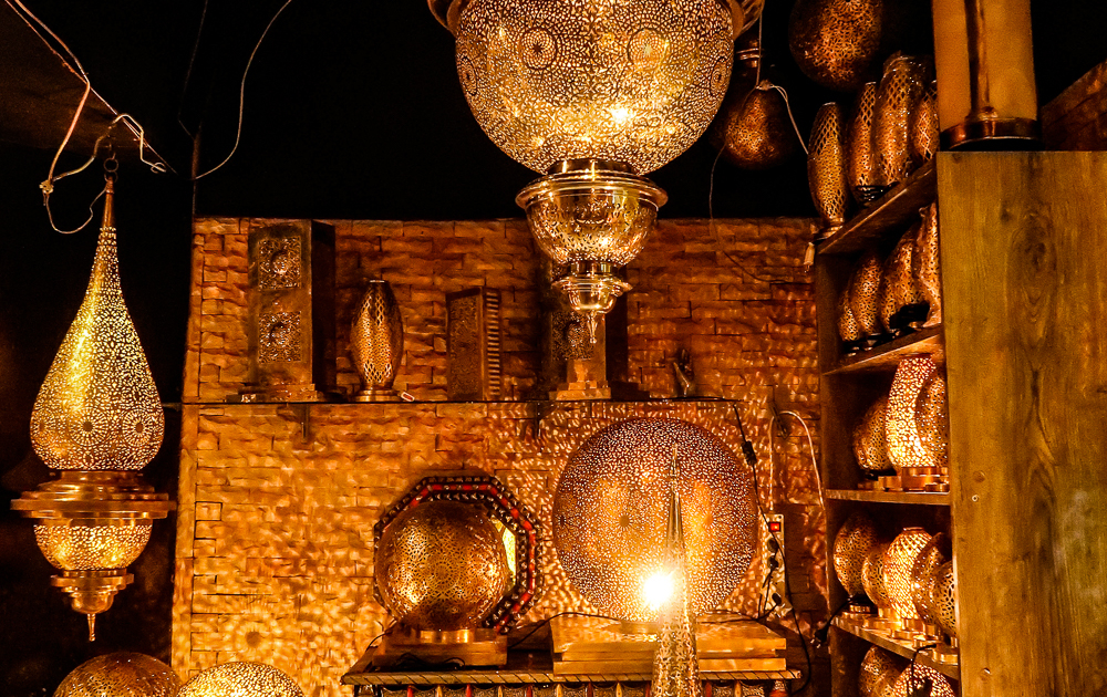 Lamps in Fez, Morocco