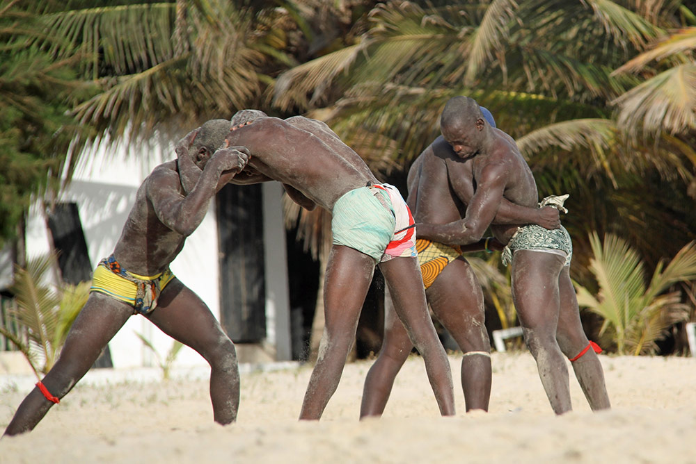 Things to do in gambia: wrestling