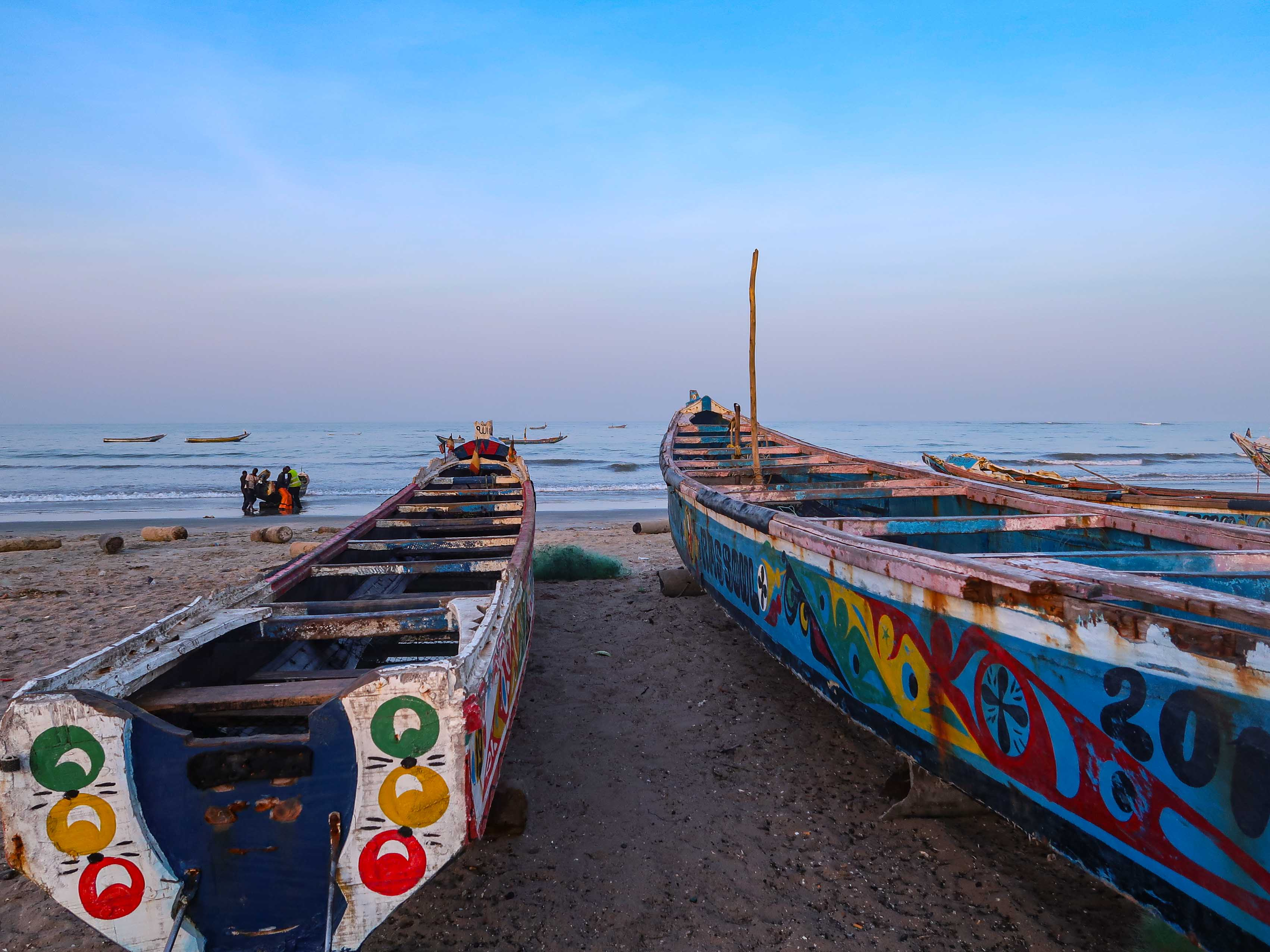 Travel Gambia's South: beach with pyorges